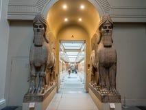 Escultura Assyrian no museu britânico Fotos de Stock