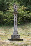 Escultura barroca de piedra de dos santos, del santo Roch y del santo Seba Imagenes de archivo