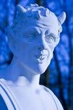 Escultura barroco do busto do diabo. Foto de Stock