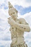 Escultura blanca del ángulo, Korat, Tailandia Imagen de archivo libre de regalías