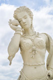 Escultura blanca del ángulo, Korat, Tailandia Fotografía de archivo
