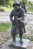 Escultura, camponês com pessoal Foto de Stock Royalty Free