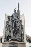 A escultura caracteriza Kupe Raiatea, grande explorador maori e descobridor do porto de Wellington, Nova Zelândia Foto de Stock