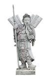 Escultura china de la piedra del guerrero, aislada Imágenes de archivo libres de regalías