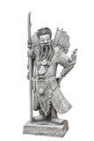 Escultura china de la piedra del guerrero, aislada Fotos de archivo