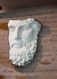 Escultura clássica da cara Fotografia de Stock