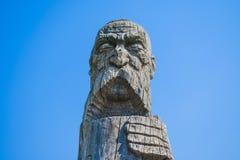 Escultura cosaca hecha de la madera foto de archivo libre de regalías