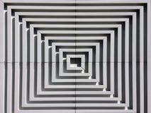 Escultura cuadrada de la blanco Fotografía de archivo