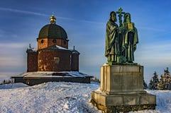 Escultura Cyril y Methodius imágenes de archivo libres de regalías