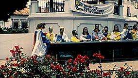 Escultura da última ceia de Taxco em México vídeos de arquivo