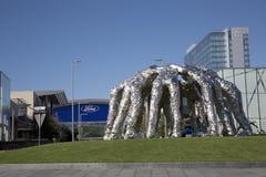 Escultura da aproximação dos vaqueiros no centro Frisco de Ford imagens de stock royalty free