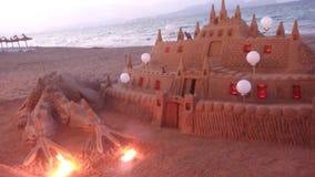 Escultura da areia fotografia de stock