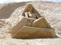 Escultura da areia imagens de stock royalty free