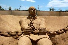 Escultura da areia Fotos de Stock Royalty Free