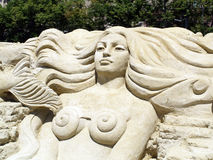 Escultura da areia imagens de stock