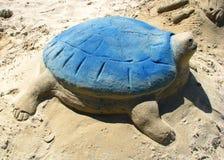 Escultura da areia de artista desconhecido Fotos de Stock