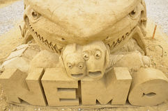 Escultura da areia de encontrar o filme de Nemo Fotografia de Stock Royalty Free