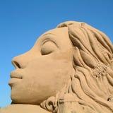 Escultura da areia no 4o campeonato mundial fotografia de stock