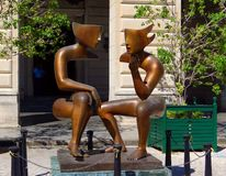 Escultura da arte moderna, Cuba Havana foto de stock royalty free