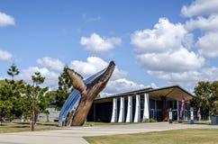 Escultura da baleia de Hervey Bay imagem de stock