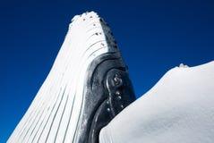 Escultura da baleia no porto de Hervey Bay fotos de stock