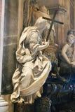 Escultura da basílica de St Peter, Vaticano, Itália foto de stock