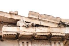 Escultura da cabeça do ` s do cavalo no friso do ` s do Partenon da acrópole Grécia de Atenas Imagem de Stock