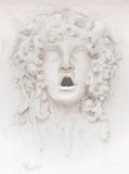 Escultura da cara da fachada foto de stock royalty free