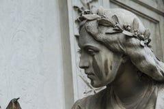 Escultura da cara de uma mulher Imagem de Stock