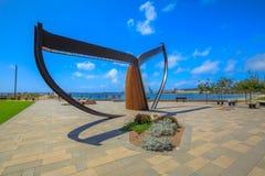 Escultura da cauda da baleia de Esperance Fotografia de Stock