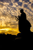 Escultura da estátua da monge do quadrado de Dayan Tanane Fotografia de Stock Royalty Free