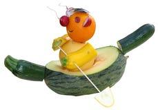 Escultura da fruta fotografia de stock royalty free