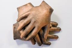 Escultura da mão fotografia de stock