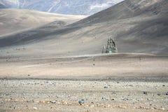 Escultura da mão, deserto de Atacama, o Chile fotografia de stock