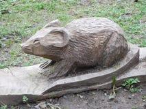 Escultura da madeira do roedor Foto de Stock Royalty Free