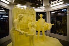 Escultura da manteiga da mostra da exploração agrícola Imagem de Stock