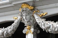 Escultura da ponte de Pont Alexandre do La Foto de Stock Royalty Free