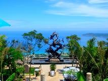 escultura da praia de prata no Mar do Norte fotografia de stock royalty free