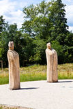 Escultura das Versprechen de Stefan Guber Imagenes de archivo