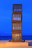 Escultura de acero L Estel Ferit Imagen de archivo