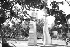 Escultura de acero que reconoce el Potteries fotografía de archivo