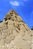 Escultura de Adam e de areia da véspera Foto de Stock Royalty Free