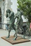 Escultura de Adam e de véspera em Ljiubljana Fotografia de Stock Royalty Free