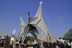 A escultura de Alexander Calder Imagens de Stock Royalty Free