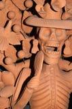Escultura de arcilla de Catrina Foto de archivo libre de regalías