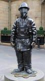 Escultura de bronce del bombero del ciudadano, Glasgow Fotografía de archivo libre de regalías