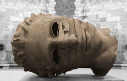 Escultura de bronce en Kraków Fotografía de archivo libre de regalías