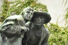 Escultura de bronze velha fotografia de stock royalty free