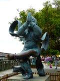 Escultura de Buda de la adoración del muchacho Fotografía de archivo libre de regalías