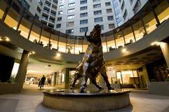 Escultura de Bull Imágenes de archivo libres de regalías